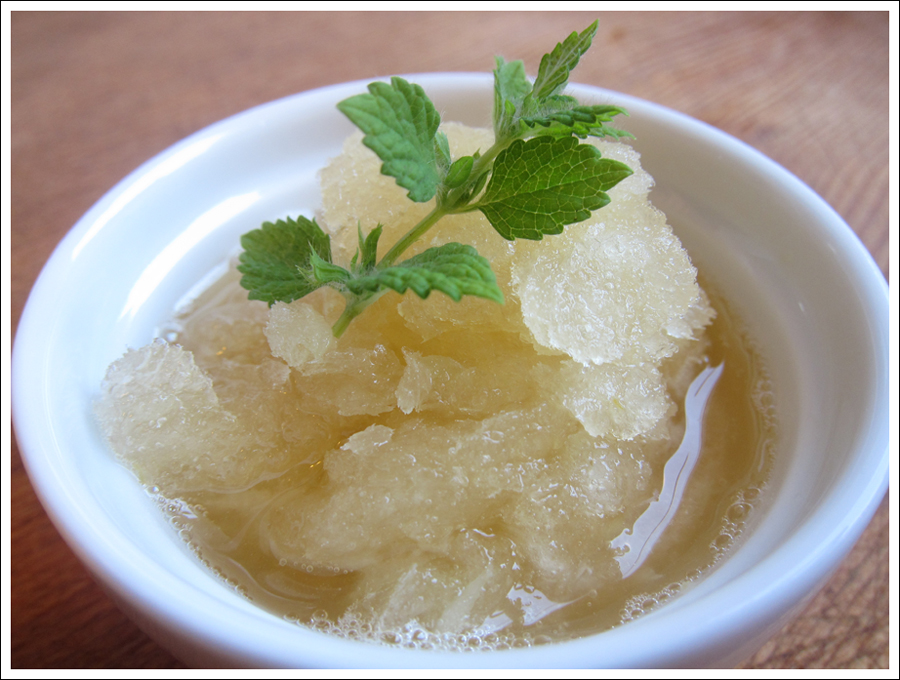 Blog lemon honey granita
