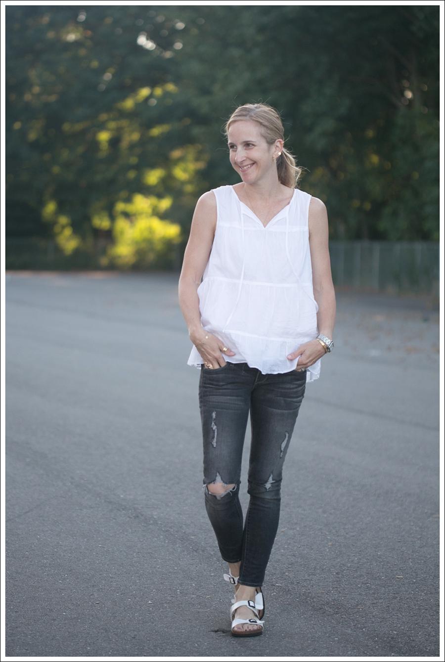 Blog Talbots Boho top Paige Destroyed Skinny Betula White Birkenstocks-1