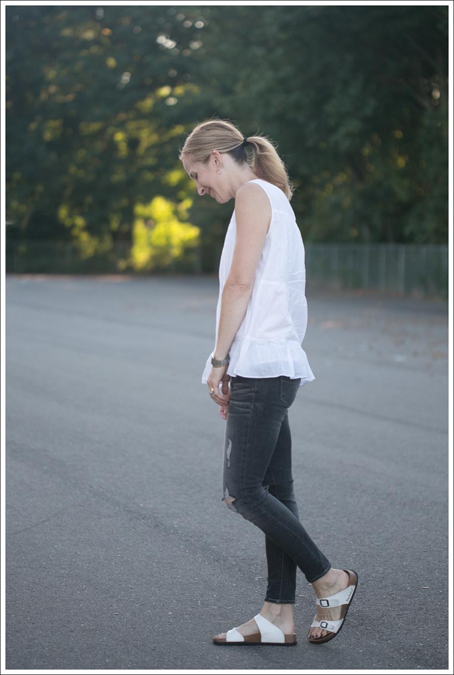 Blog Talbots Boho top Paige Destroyed Skinny Betula White Birkenstocks-2
