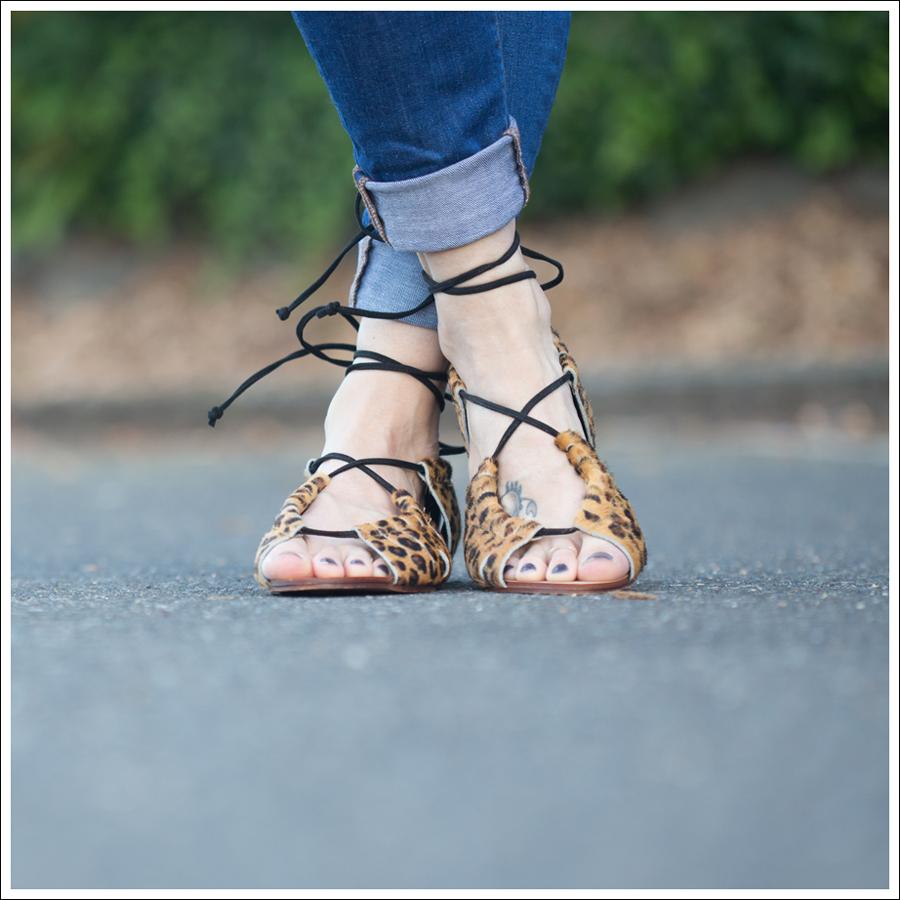 Blog Zara Boho Top J Brand Skinny Karma Zara Leopard Tie Sandals-2