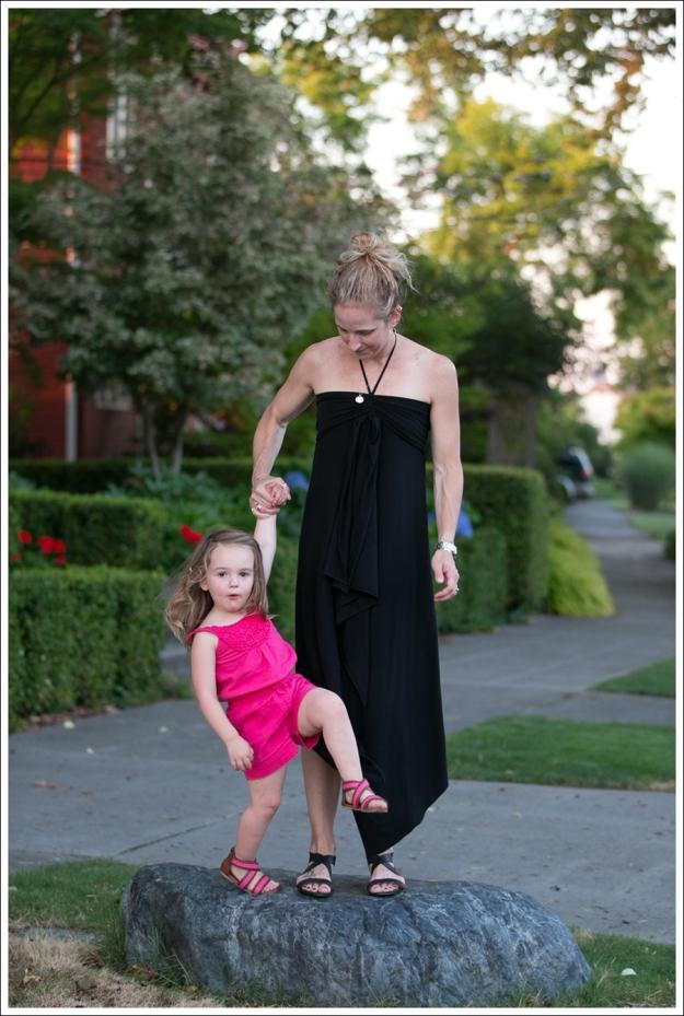 Blog Black Halter Cascade Dress ShoeMint Zandra-4