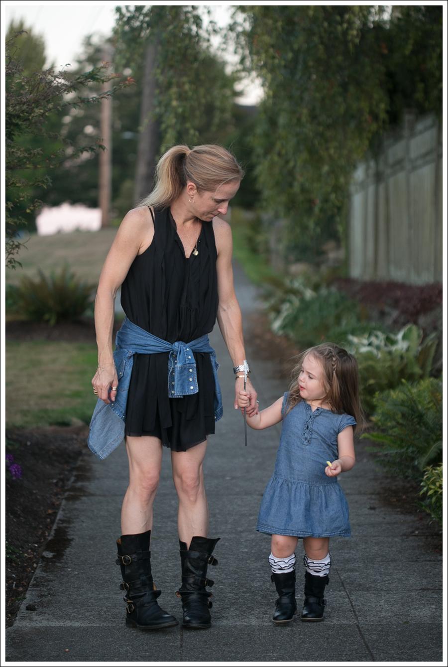 Black dress jean shirt -  Blog Twenty8twelve Black Dress Gap Denim Shirt Fiorentin And Baker Boots 3
