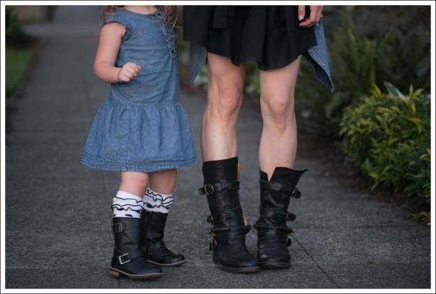 Blog Twenty8Twelve Black Dress Gap Denim Shirt Fiorentin and Baker Boots-5