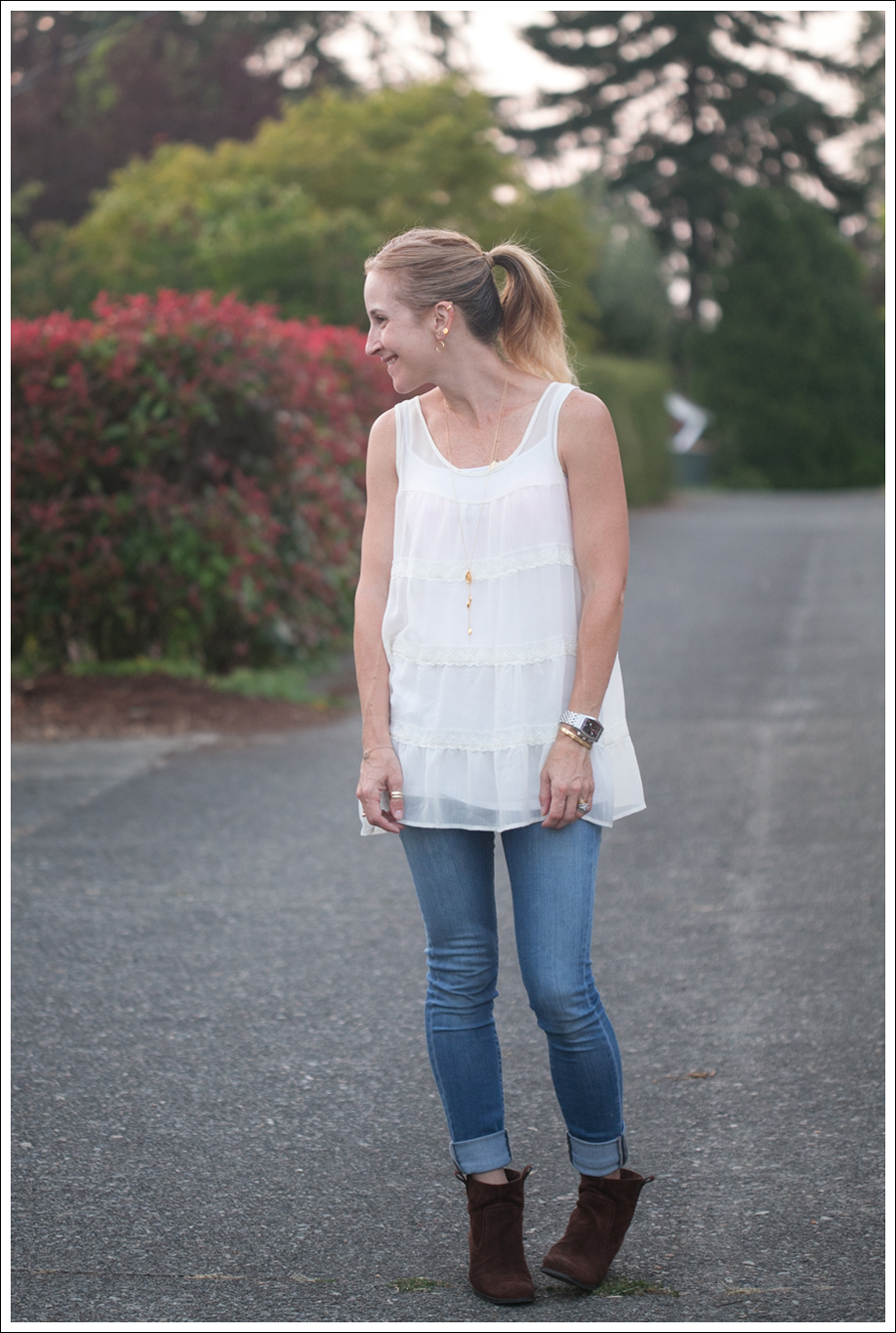 Blog Xhiliration Cream Boho Top Genetic Denim The Shane Nine West Booties-1