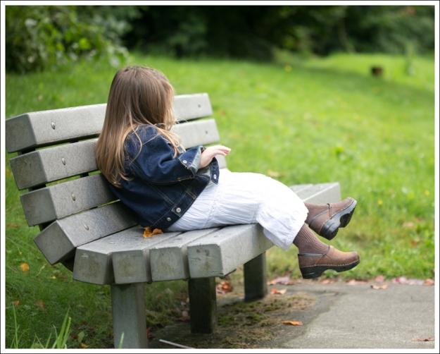 blog Gap Dark Jean Jacket Greendog White Boho Dress Sanita Clogs-3