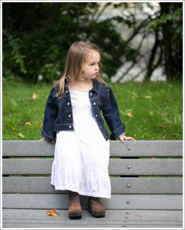 blog Gap Dark Jean Jacket Greendog White Boho Dress Sanita Clogs-4