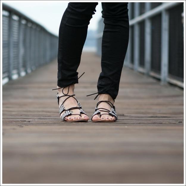 Blog Gap Denim Shirt HM Tank J Brand Coated Crinkle Zara Lace Up BW Sandals-3