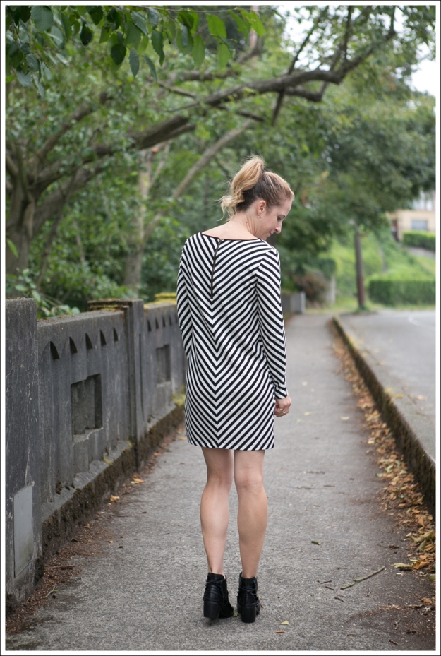 Blog Silence and Noise striped Dress SixtySeven Booties-2