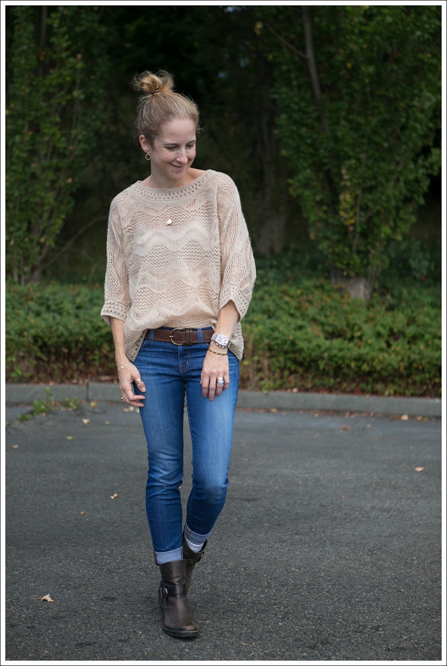 Blog StyleMint loose Knit Sweater J Brand Skinny Karma Cafe Noire Booties-1
