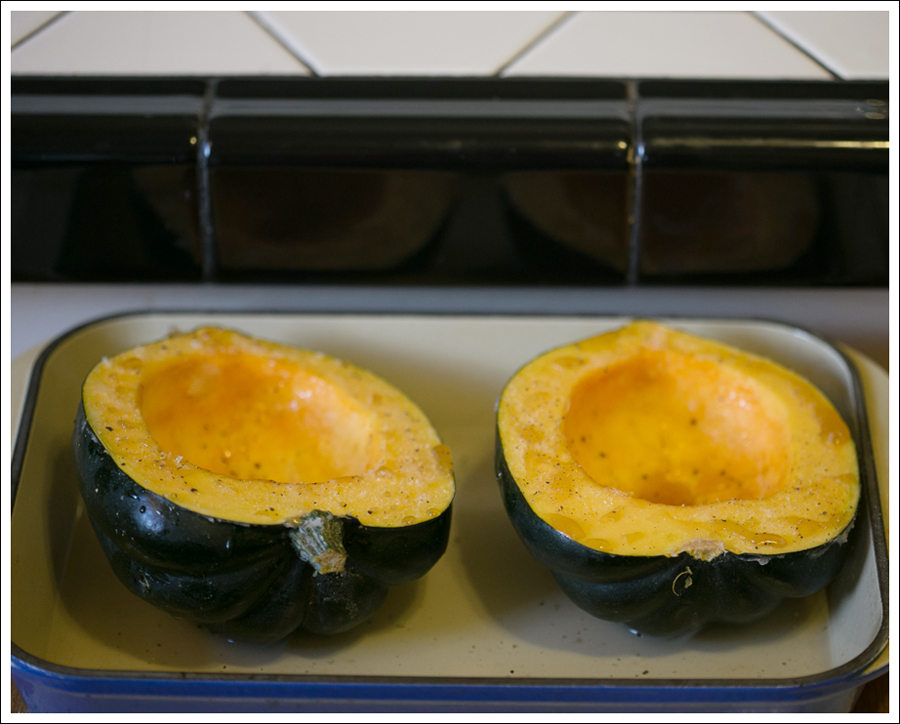 Baked Acorn Squash Stuffed with Quinoa, Apples, and Chicken Sausage |