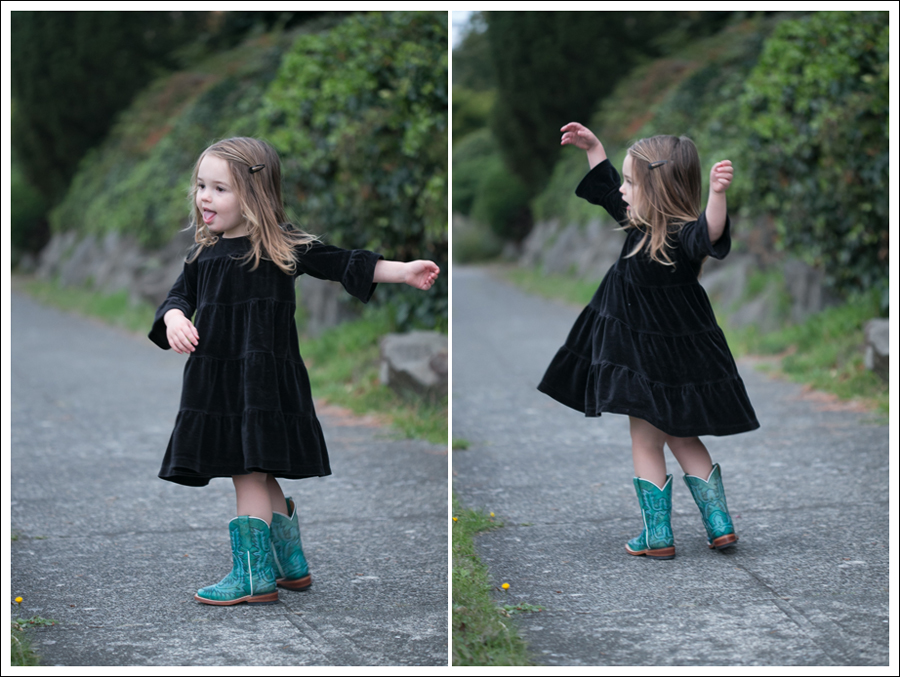 Blog Hanna Andersson Black Velour Twirl Dress Corral Teal Cowboy Boots-3