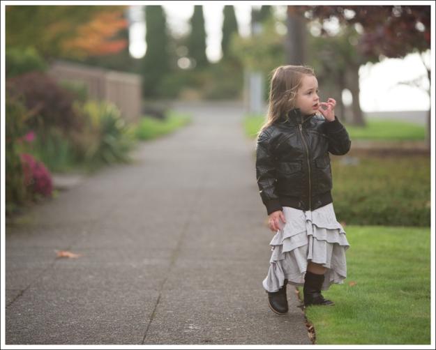 Blog HM Faux Leather Jacket Gap Gray Flamenco Dress Xhiliration Moto Boots-3