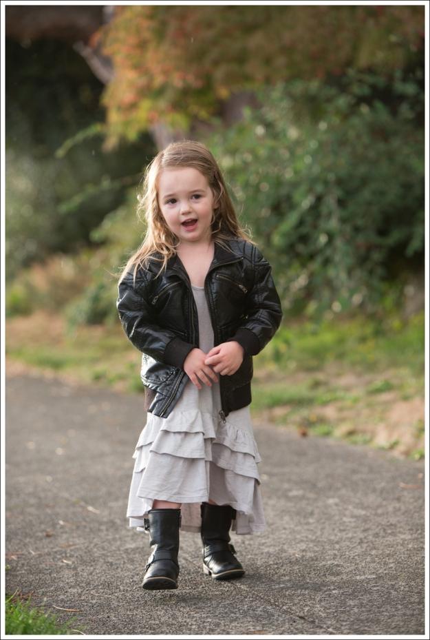Blog HM Faux Leather Jacket Gap Gray Flamenco Dress Xhiliration Moto Boots-5