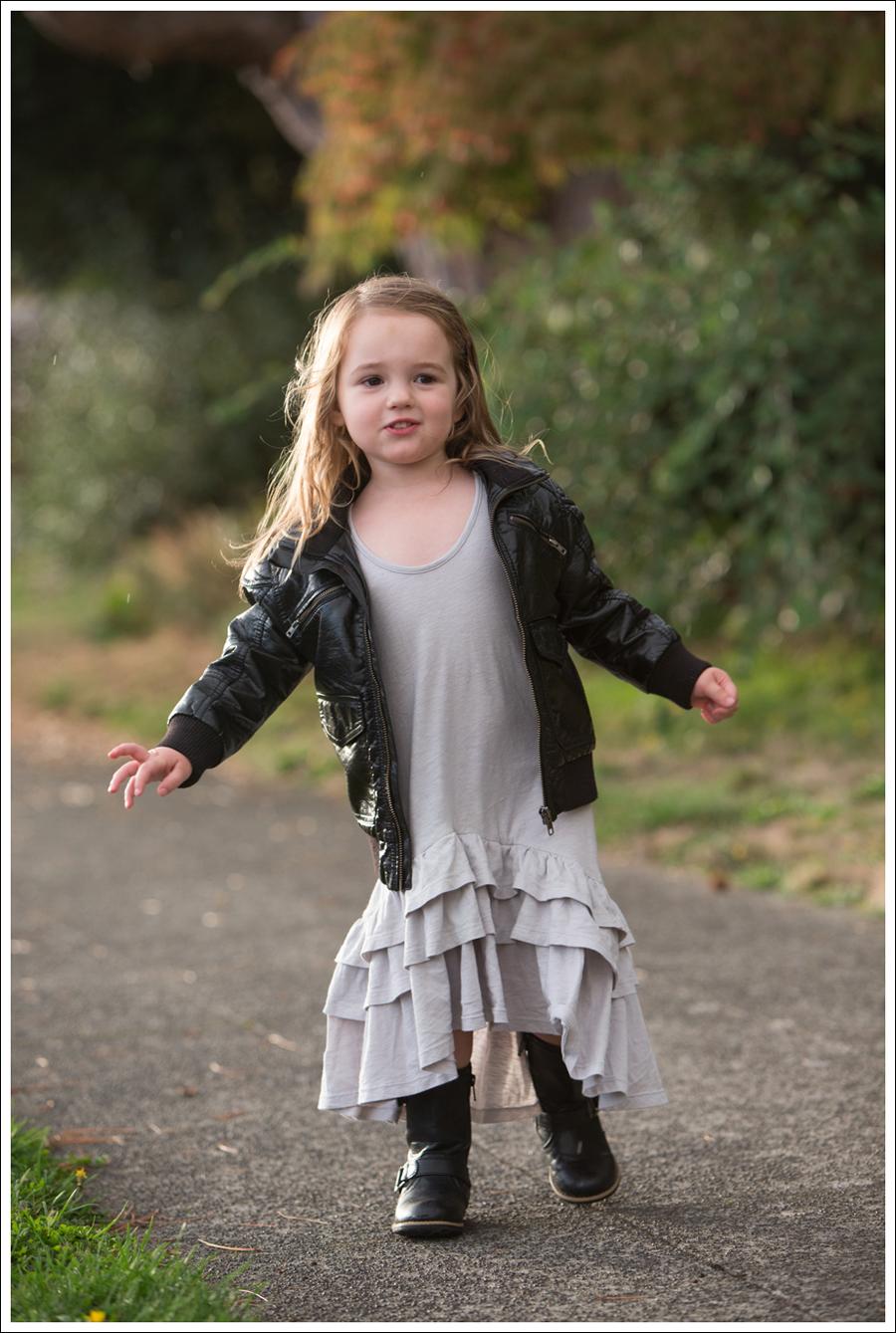 Blog HM Faux Leather Jacket Gap Gray Flamenco Dress Xhiliration Moto Boots-6