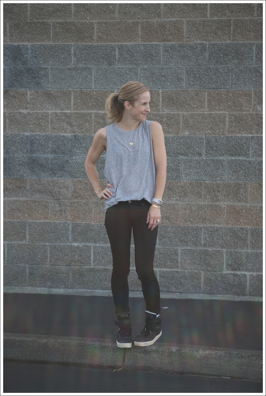 Blog HM Muscle Tee DL1961 Emma in Riker All Saints Spitagields Leather High Tops-1