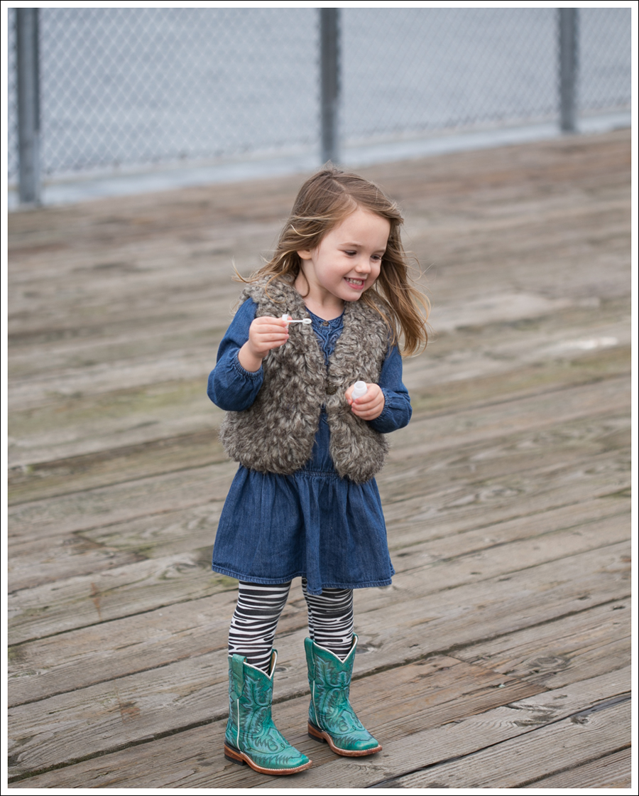 Blog Old Navy Faux fur Vest Old Navy Drop Waist Denim dress Carters Zebra Leggings Corral Toddler Cowboy Boots-4
