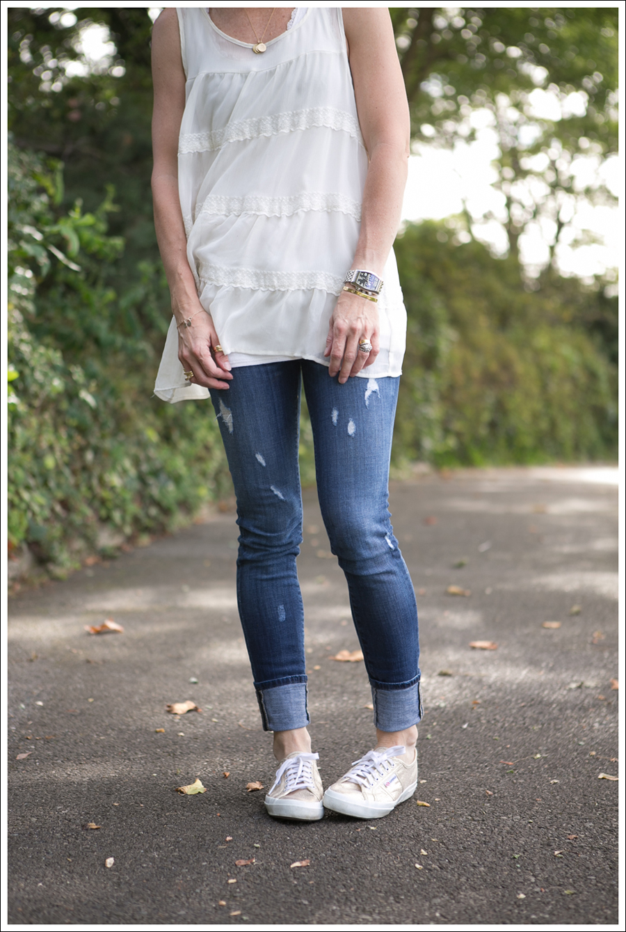 Blog Xhiliration Cream Boho Tank Genetic Denim Twig Gold Glitter Superga-1