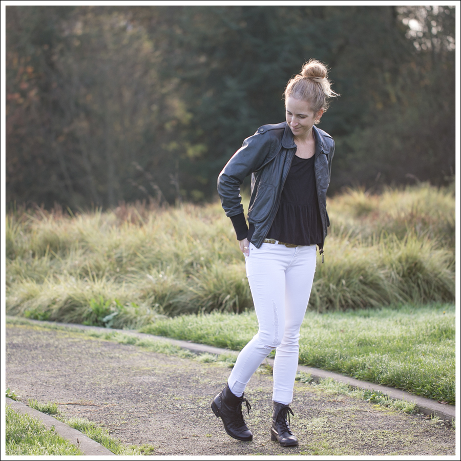 1 Blog Doma Leather Knit Jacket Free People Sues Swinging Peplum Top Linea Pelle Gold Studded Belt DL1961 Amanda Milk ShoeMint Lily-1