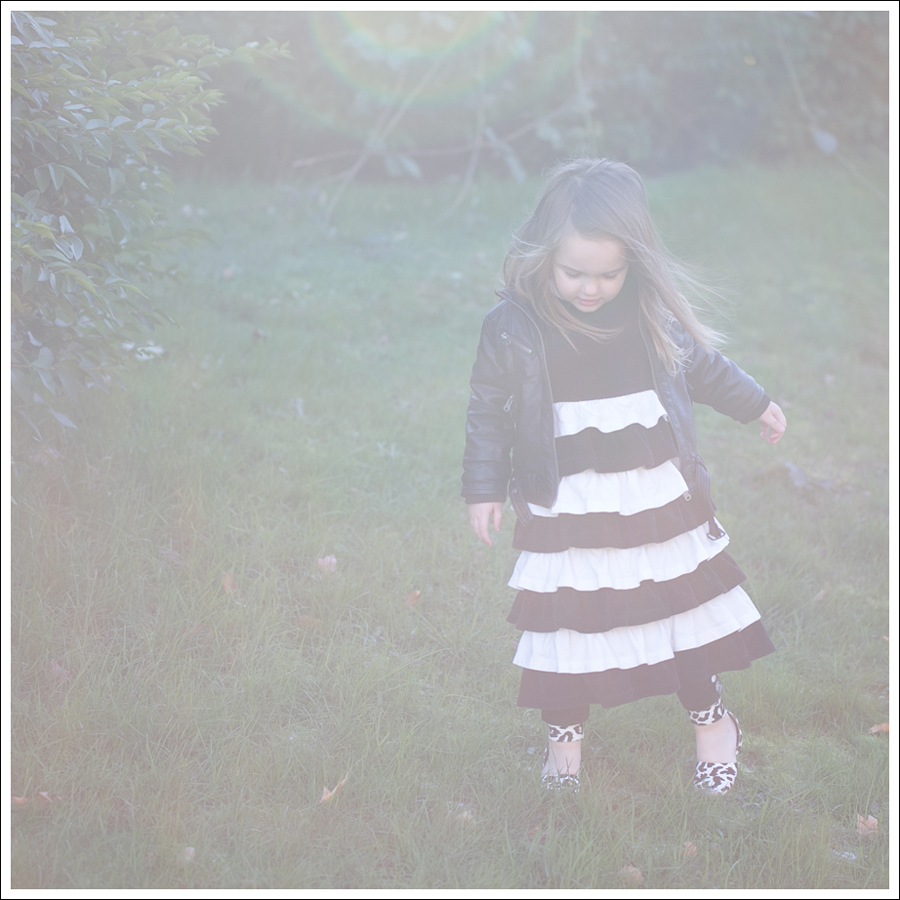 Blog Amy Coe Hanna Andersson BW Tiered Dress Zulily Faux Leather Leggings DIY Glitter Shoes-1