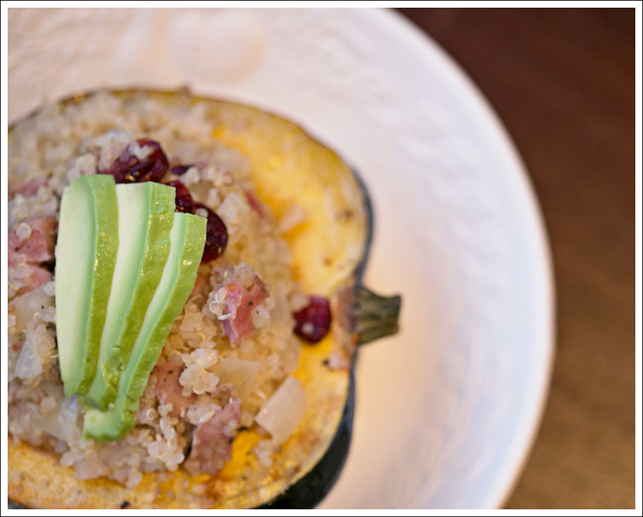 Blog Baked Acorn Squash Stuffed with Quinoa Apples Chicken Sausage-4e