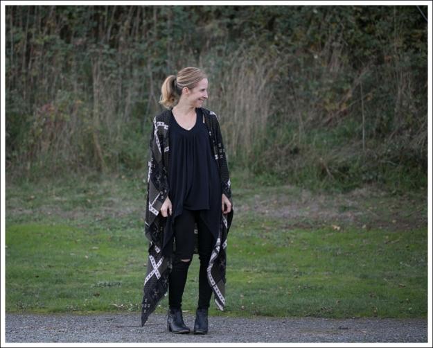 Blog Free People Printed Duster Scarf Kimono J Brand Skinny Leg Shadow Destroyed SixtySeven Booties-1