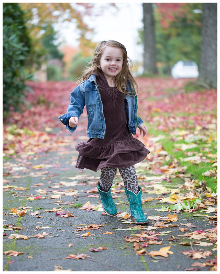 Blog Osh Kosh Jean Jacket Gap brown Velour Dress Zulily Leopard Tights Corral Turquoise Toddler Boots-1