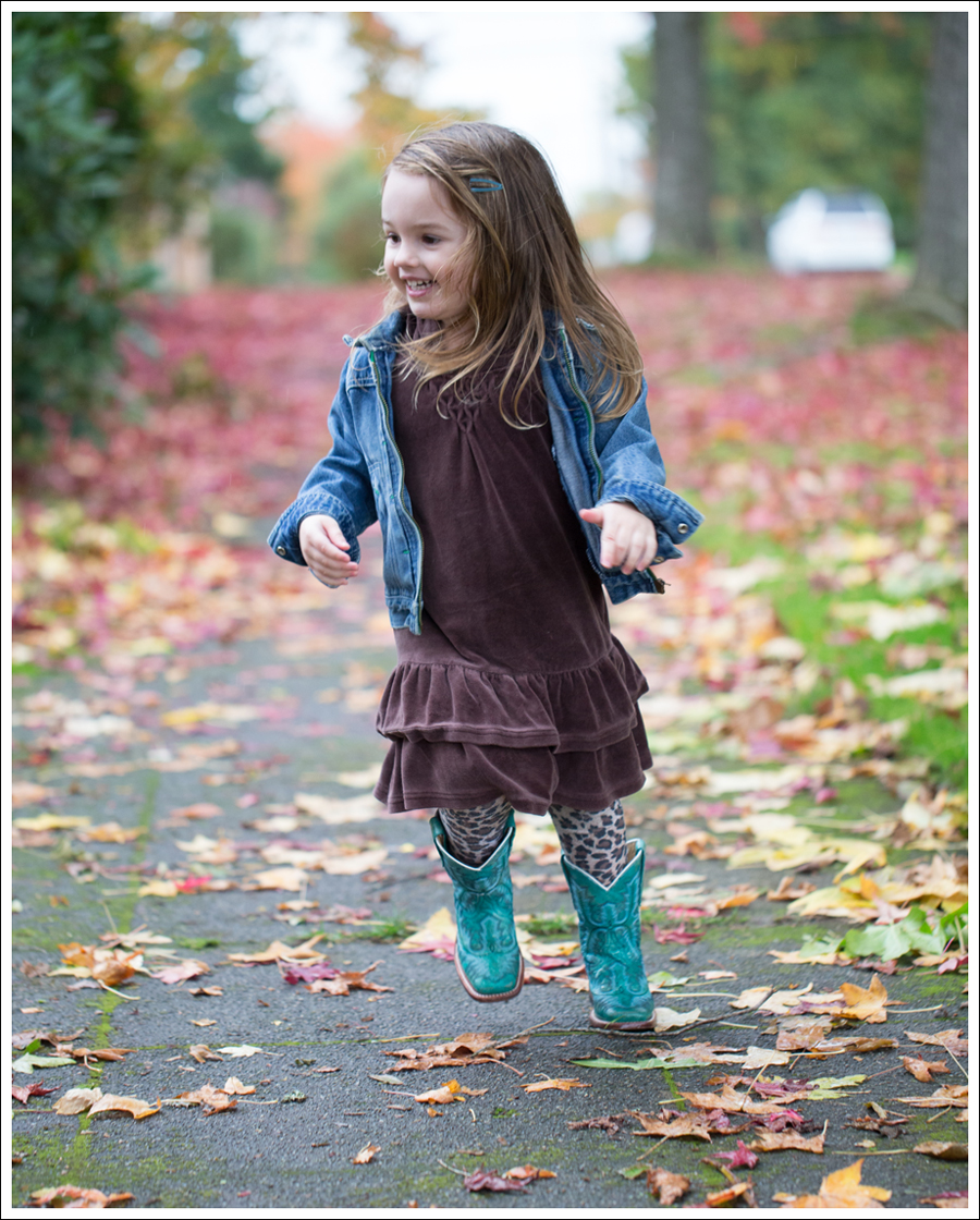 Blog Osh Kosh Jean Jacket Gap brown Velour Dress Zulily Leopard Tights Corral Turquoise Toddler Boots-2