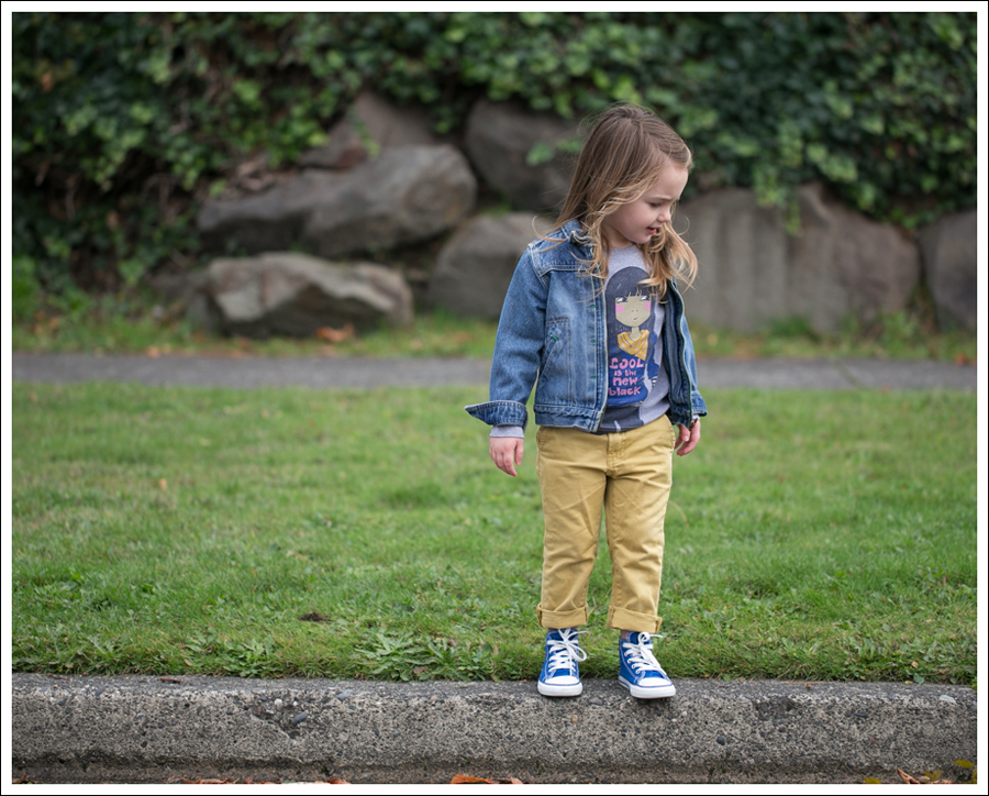 Blog Osh Kosh Jean Jacket Mini Boden Cool Tee 7FAM mustard jeans Blue Toddler Converse Hight Tops-6