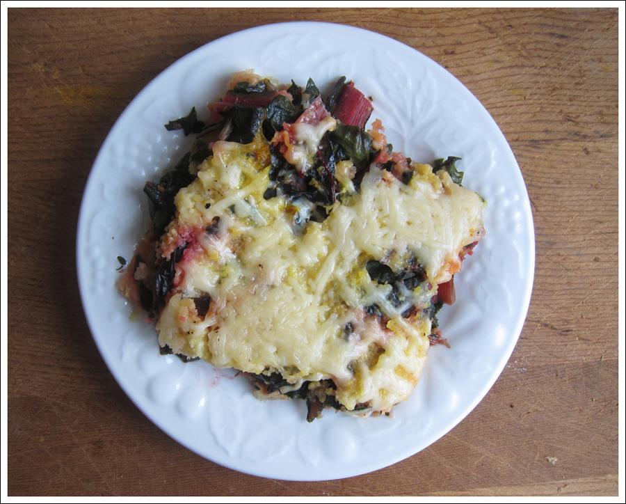 Blog polenta torte with greens