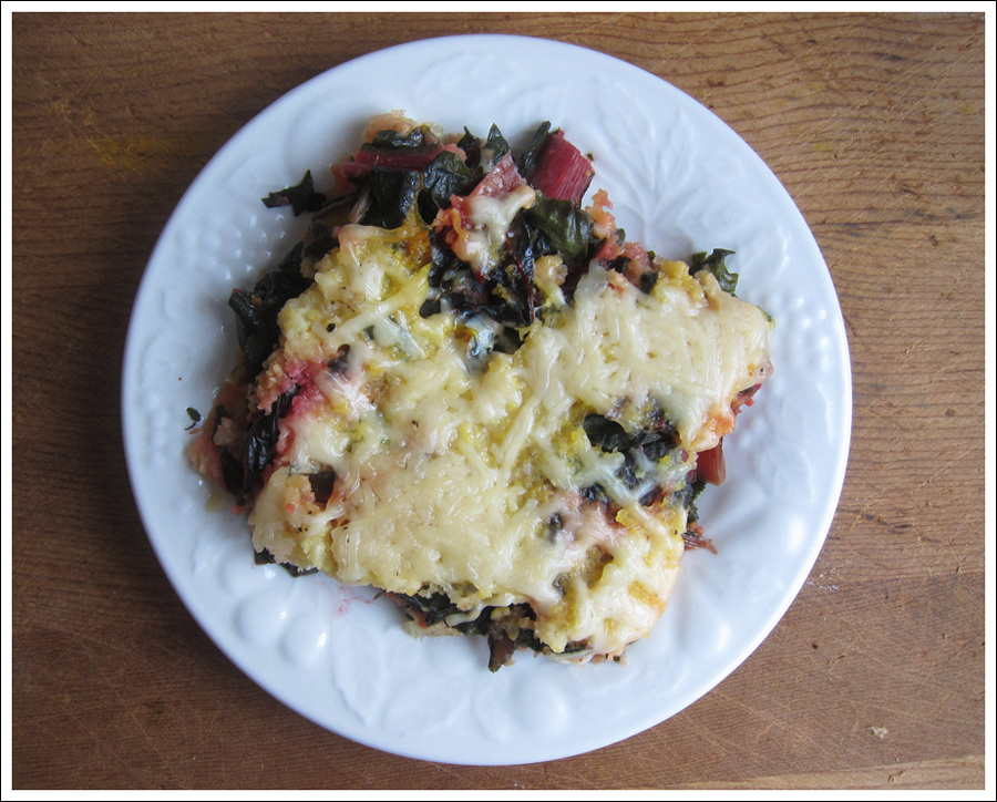 Blog polenta torte with greens