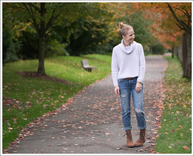 Blog Zara Lilac Chunky Knit Turtleneck Genetic Masen Ex Boyfriend Lace Up boots-1