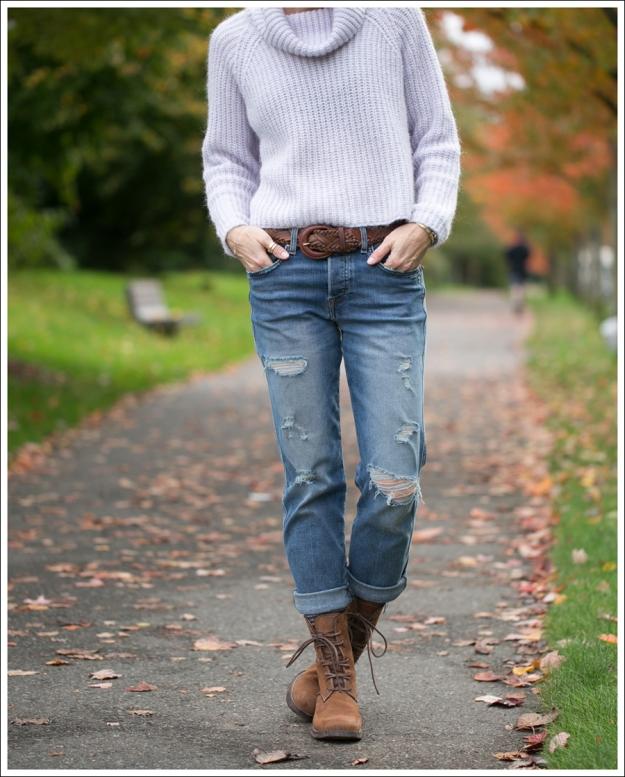 Blog Zara Lilac Chunky Knit Turtleneck Genetic Masen Ex Boyfriend Lace Up boots-2