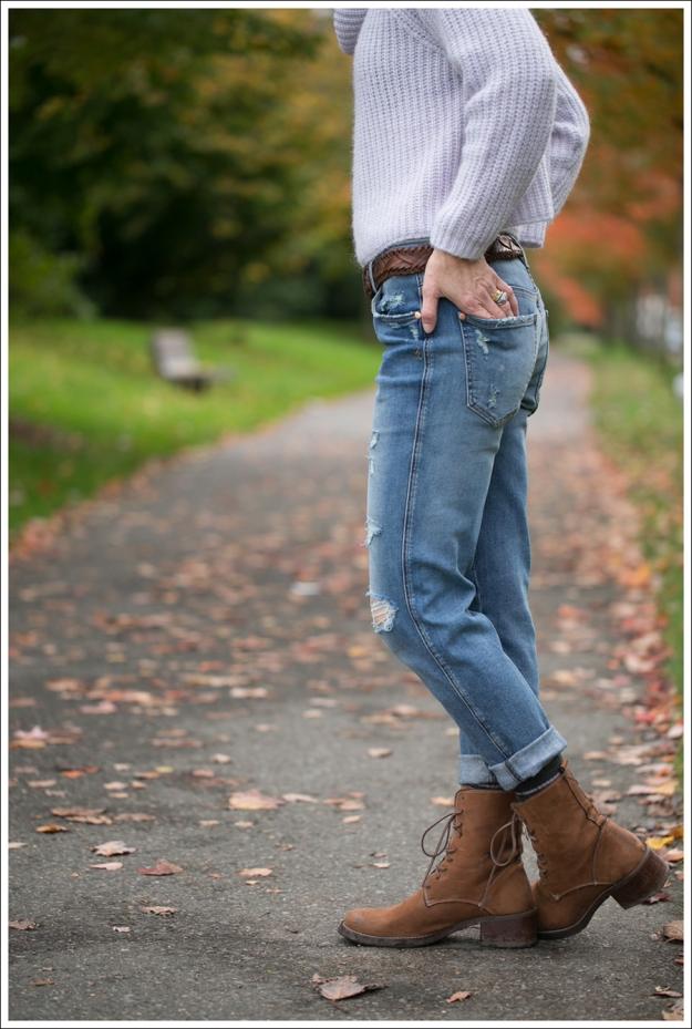 Blog Zara Lilac Chunky Knit Turtleneck Genetic Masen Ex Boyfriend Lace Up boots-3