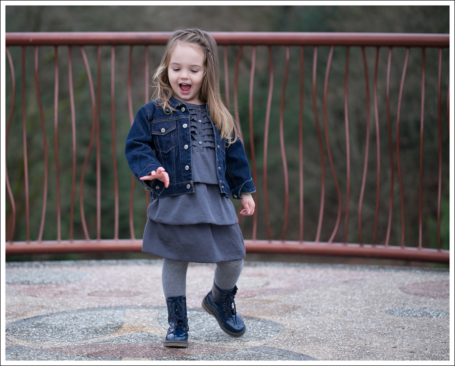 Blog Baby Gap Jean Jacket Gray Dress Link Boots-2
