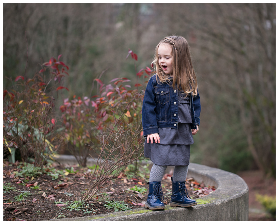 Blog Baby Gap Jean Jacket Gray Dress Link Boots-5