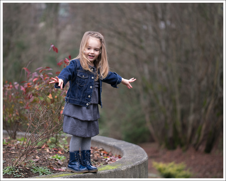 Blog Baby Gap Jean Jacket Gray Dress Link Boots-6