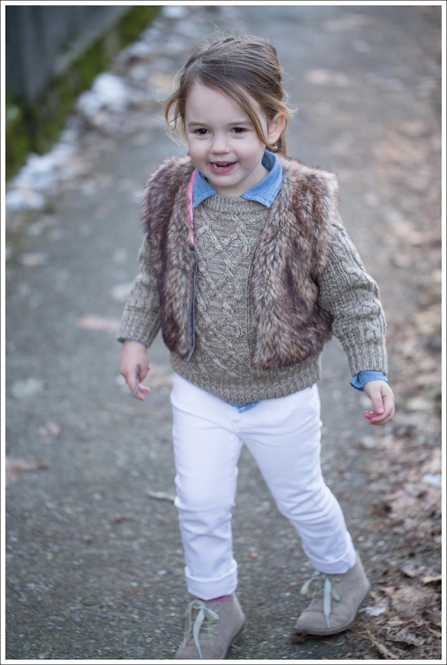 Blog Faux Fur Vest DL1961 Chloe Whiteley-6