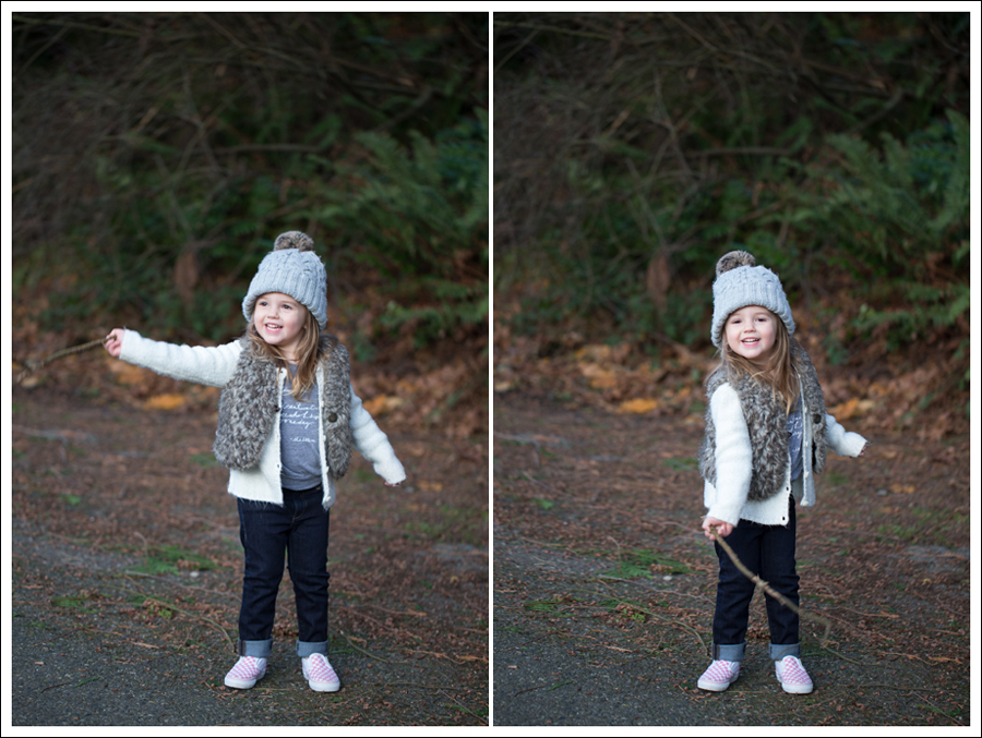 Blog HM Hat Old Navy faux fur vest cardigan Little Boogaweezin DL1961 Chloe Rafaeli Pink Checked Vans-11