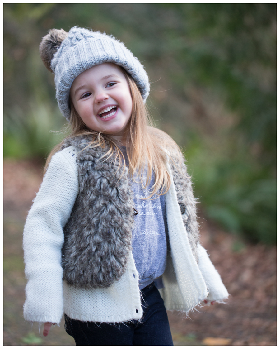 Blog HM Hat Old Navy faux fur vest cardigan Little Boogaweezin DL1961 Chloe Rafaeli Pink Checked Vans-8