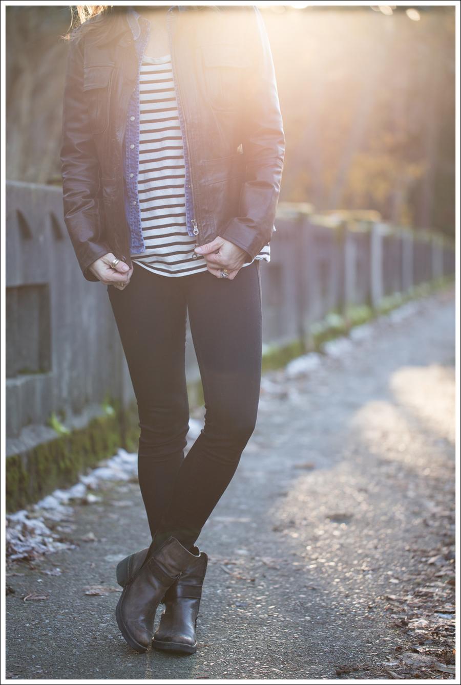 Blog Leather Jacket Gap Jean Shirt StyleMint DL1961 Emma Riker Cafe Noire Booties-1