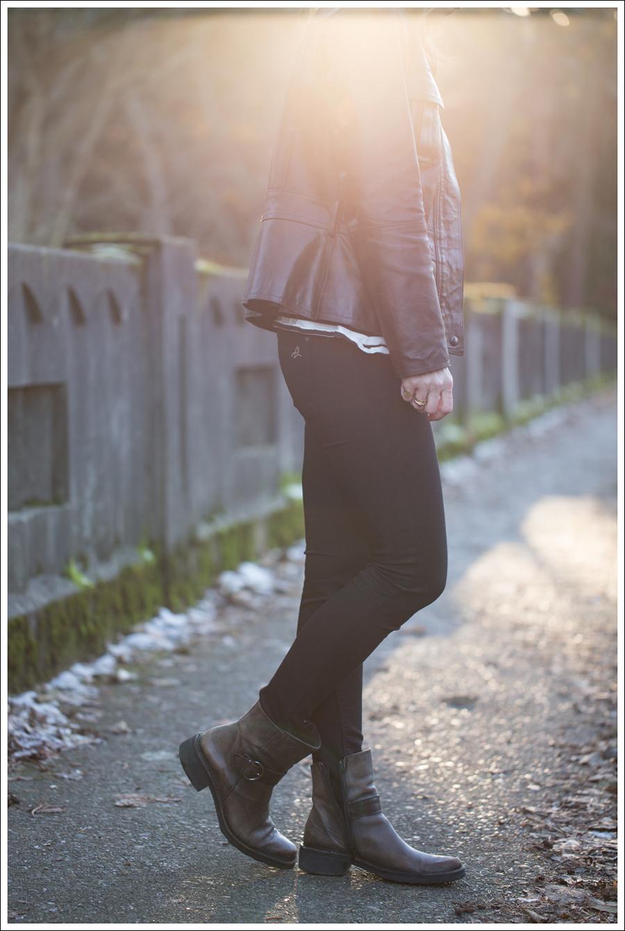 Blog Leather Jacket Gap Jean Shirt StyleMint DL1961 Emma Riker Cafe Noire Booties-2