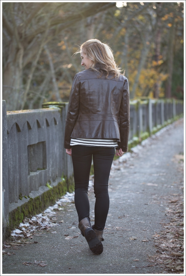 Blog Leather Jacket Gap Jean Shirt StyleMint DL1961 Emma Riker Cafe Noire Booties-3