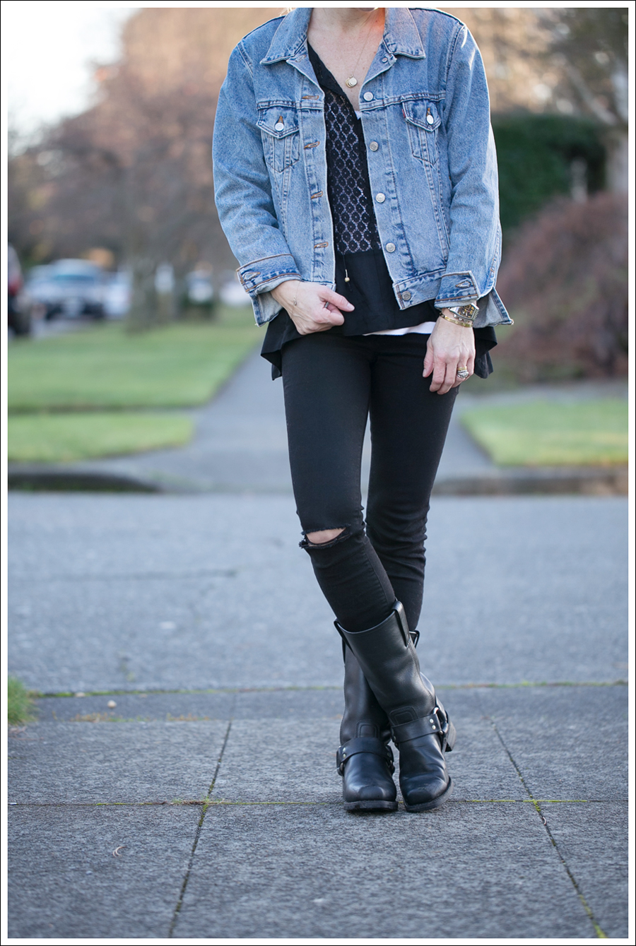 Blog Levis Jacket Oxford Trunk J Brand Frye Harness-2