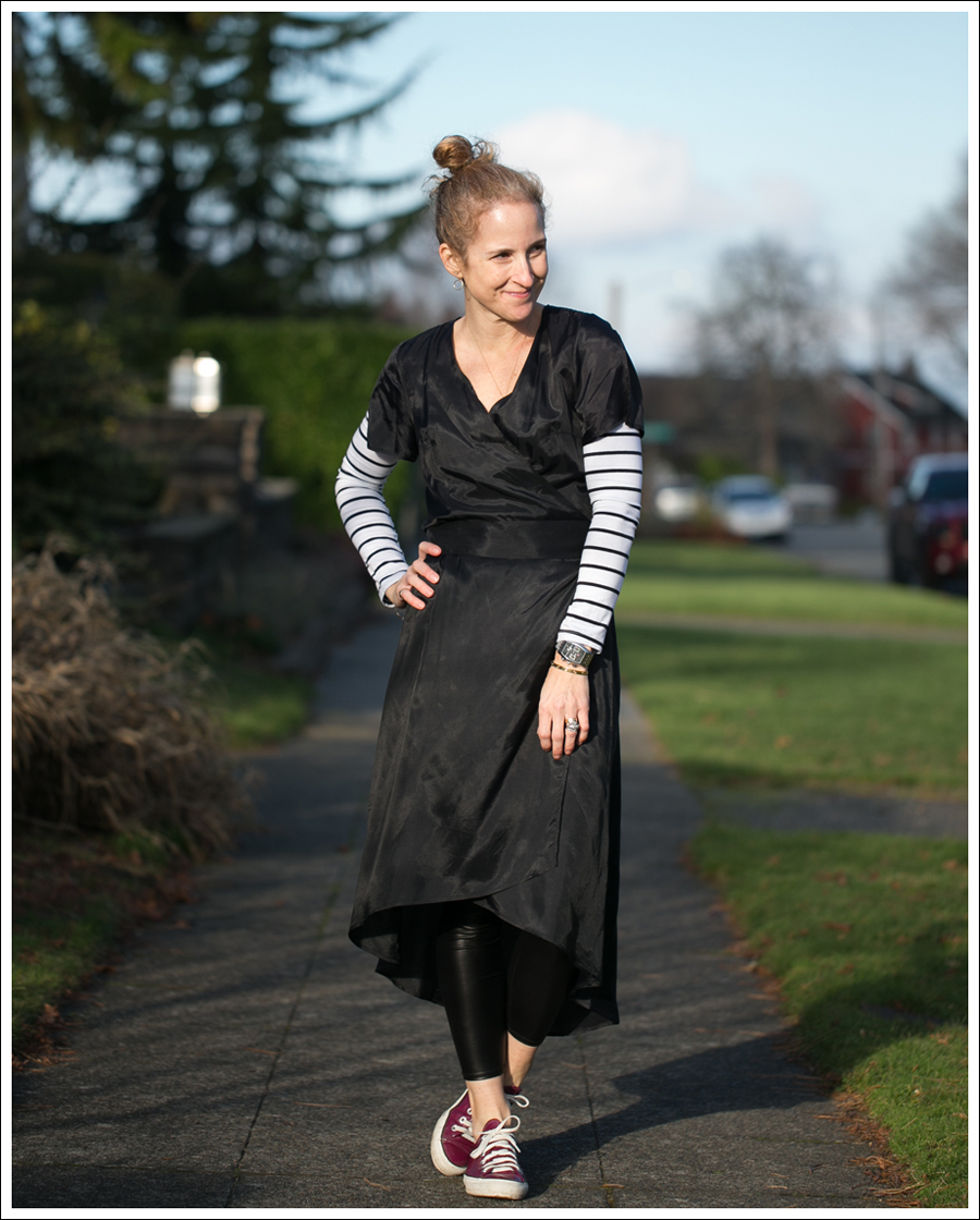 Blog Rhyme Black Wrap Dress Day to Night-1