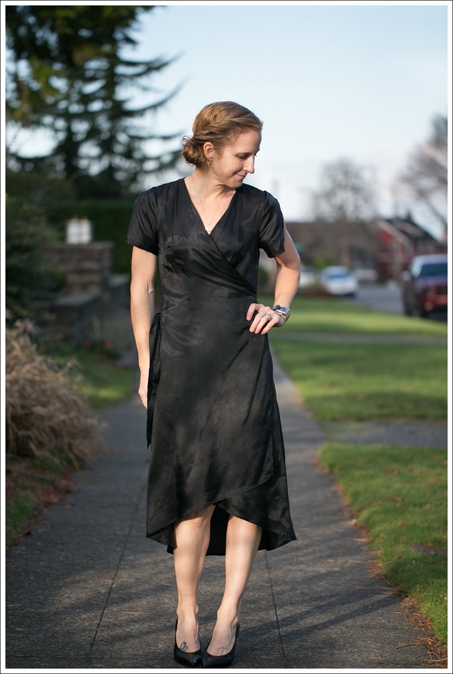 Blog Rhyme Black Wrap Dress Day to Night-21