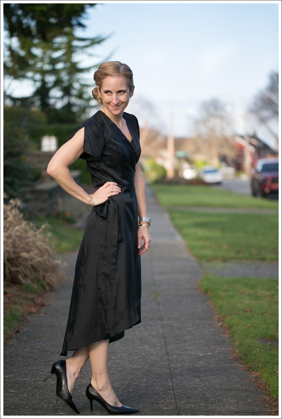 Blog Rhyme Black Wrap Dress Day to Night-22