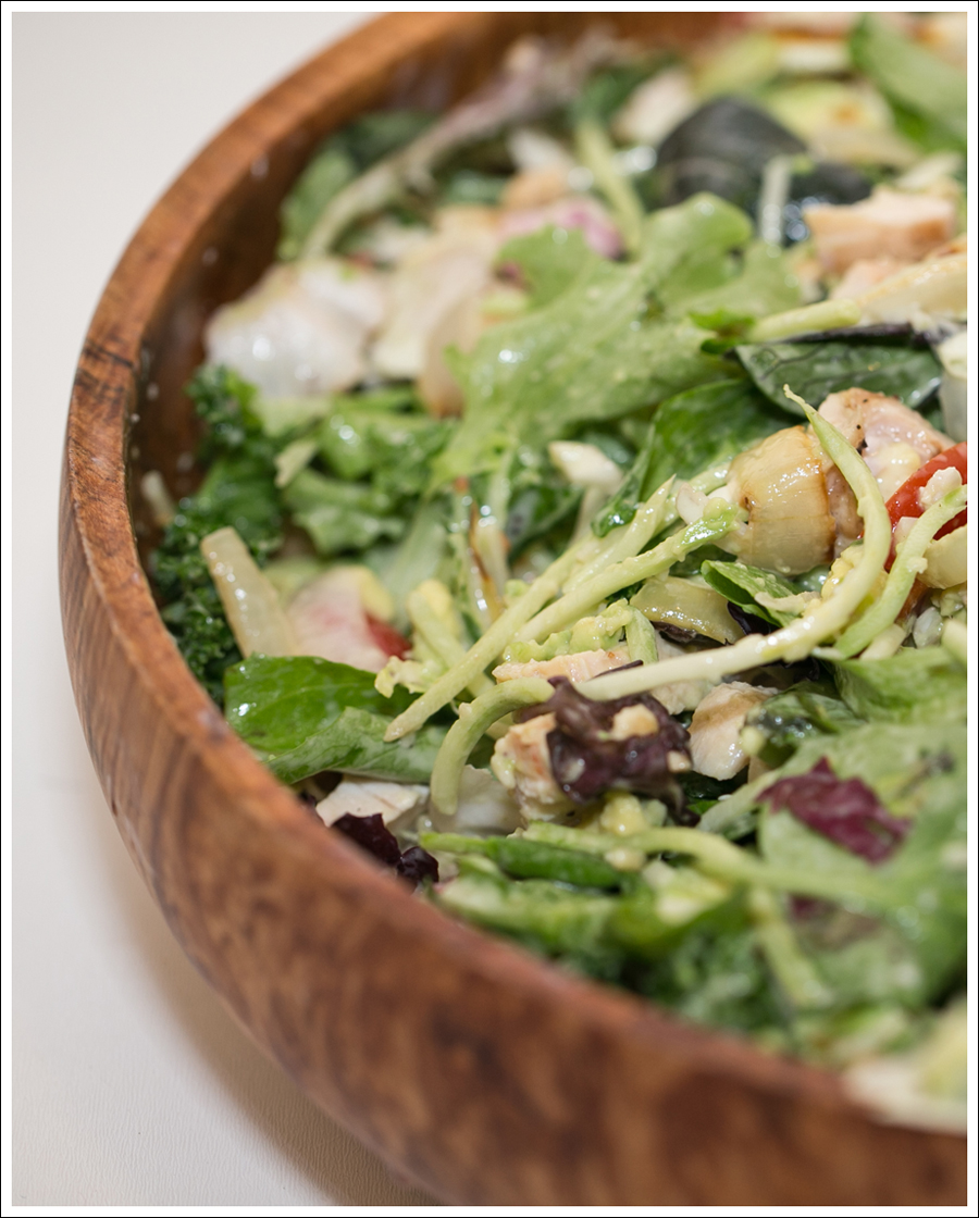Blog Costco Grilled Chicken and Onion Kale Avocado Brussel Sprout Salad-2