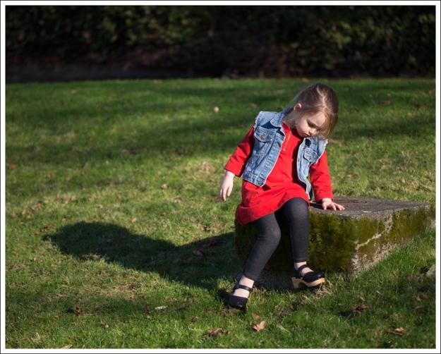 Blog Gap Denim Vest HM Red Zip Dress Levis Jeggings Sven Mary Jane Toddler Clogs-11