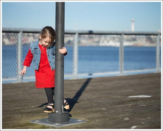 Blog Gap Denim Vest HM Red Zip Dress Levis Jeggings Sven Mary Jane Toddler Clogs-3