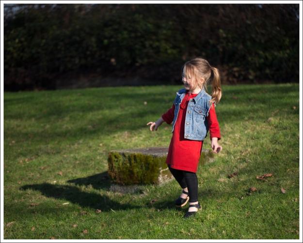Blog Gap Denim Vest HM Red Zip Dress Levis Jeggings Sven Mary Jane Toddler Clogs-6